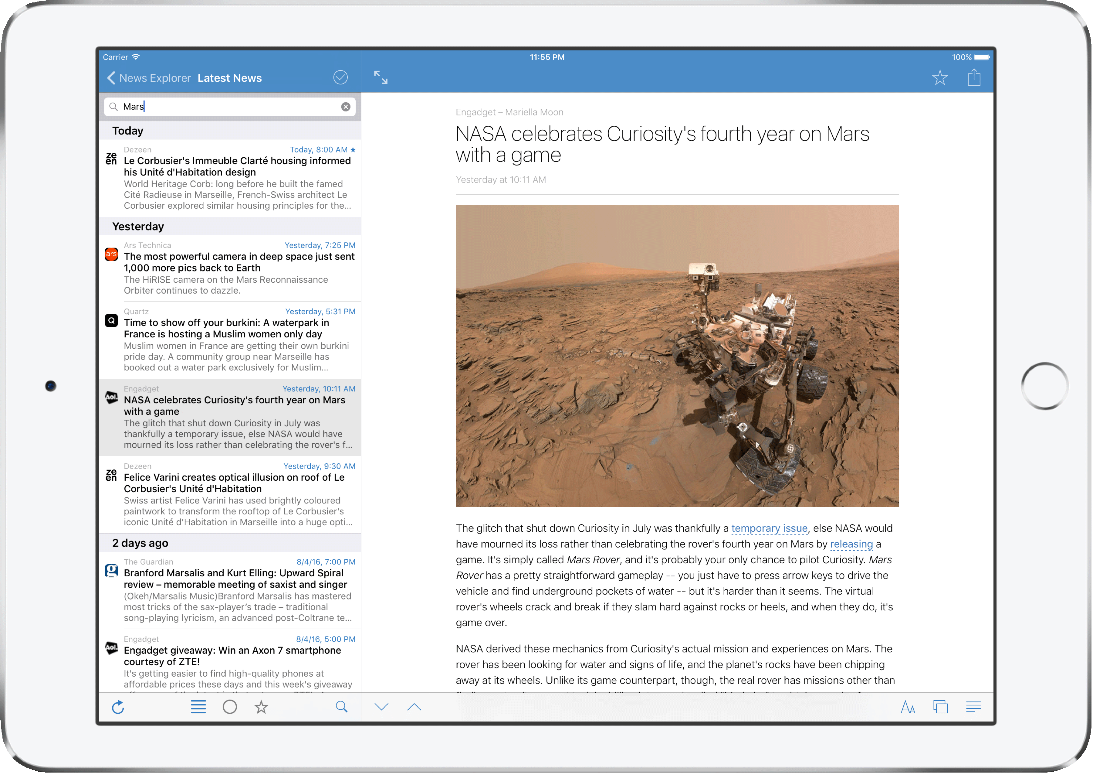 News Explorer Full Text Search